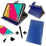 3er Starter Set DENVER TAQ 10133 / 10.1 ' Tablet Pc Tasche Hülle + Stylus + Staub Stöpsel - 10 Zoll Blau 3 in 1*