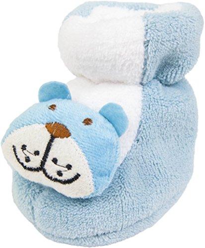 Babyschuhe Krabbelschuhe Puschen Tierapplikationen Hellblau