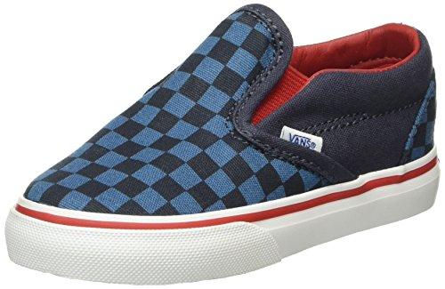 Vans Classic Slip-on, Chaussures Bébé marche mixte bébé, Bleu ( Multicolore ) (Checkerboard blue/navy), 22 EU