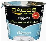 Yogurt proteico Dacos Bianco - 8 vasetti 200 gr - cremoso magro - Spedizione 24 ore
