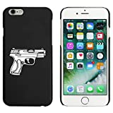 Azeeda Nero 'Pistola' Custodia / Cover per iPhone 6 & 6s (MC00093196)