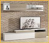 LIQUIDATODO ® - Muebles de salon modernos y baratos en color blanco/sable - polar