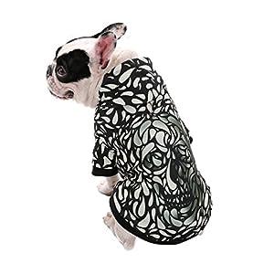 OHANA Pet 3D Effet Impression Numérique Chien à Capuche Chiot Tee Shirt Manteau Avec Harnais Trou Chaud Chandail Vêtements Pour Petit Moyen Grand Chiens et Chats