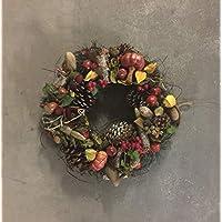 La Favola Incantata® – Corona Guirnalda Papel Country Shabby Chic Vintage CM 45 Floral Decorativo