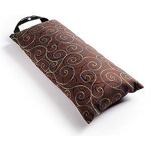 Hugger Mugger ungefüllt Yoga Sandsack, brownscroll