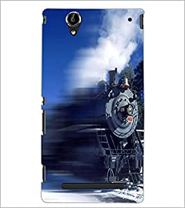PrintDhaba Train D-5035 Back Case Cover for SONY XPERIA T2 ULTRA (Multi-Coloured)