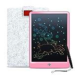 Cimetech 10 Pollici Tavoletta di Scrittura LCD Colorato, LCD Writing Tablet ed eWriters, Elettronica Lavagna, Portatile Disegno Pad con la Funzione di Blocco Schermo - Rainbow Pink