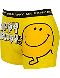 Mr Men Single Boxer Shorts Mens Mr Happy Large