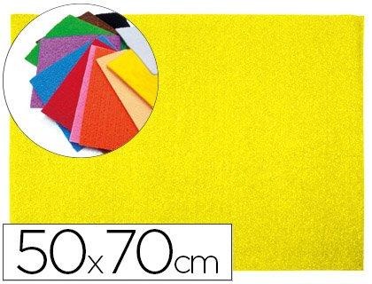 Liderpapel - Goma eva 50x70cm 60g/m2 espesor 2mm textura toalla amarillo (10 unidades)