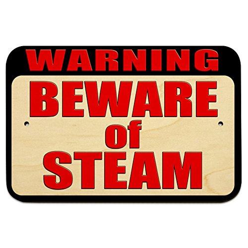 Preisvergleich Produktbild Warnung Vorsicht vor Dampf 22,9cm x 15,2cm (22,9x 15,2cm) Holz Schild