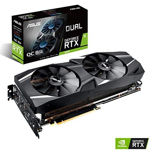 ASUS Carte Graphique DUAL-RTX2070-O8G (OC Édition, Nvidia GeForce RTX 2070, 8Go Mémoire GDDR6)