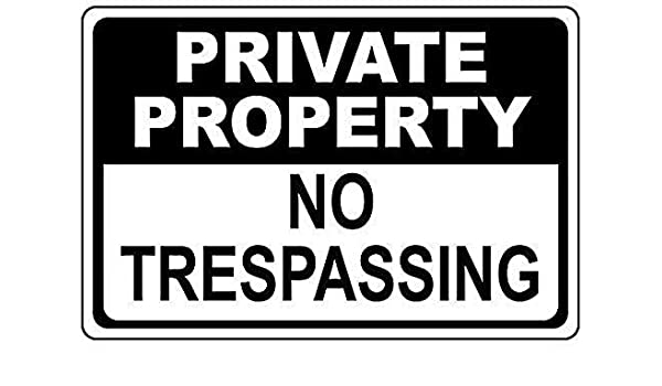 TammieLove Private Property Please Keep Out Aluminium Holed Sign for Outdoor /& Indoor Metal Sign 8x12 inches