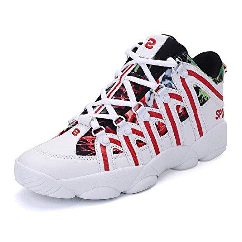 Uomo Moda Antiscivolo Scarpe sportive traspirante formatori Scarpe casual Scarpe da trekking Leggero Confortevole Formazione Scarpe da corsa euro DIMENSIONE 39-44 Red