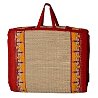 Khadi Eco basket products are most environment friendly & biodegradable product. This Mats are made of Natural Fiber from Korai Grass. Its a traditional craft, a customary skill of Villagers. This benefits to cool our Human Body & the quality...