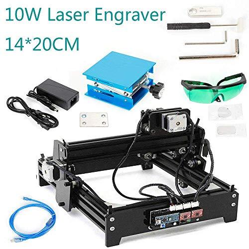 Máquina de grabado USB de 10 W CNC Laser Graveur DIY con sistema de motor paso a paso Cortar (superficie de grabado: 14 x 20 cm/5,51 x 7,87 pulgadas) DHL
