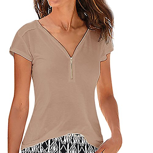 TYML Weibliche Zip Kurzarm Shirt Frauen Sommer Sexy Casual U-Neck Sleeveless Kurzen T Top Weste Tank Weibliche Hülse Top T-Shirt