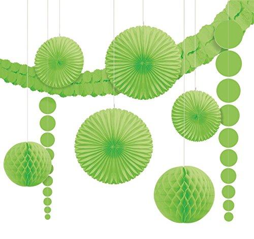 Amscan Kit de décorations Kiwi Vert