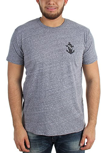 Dark Seas - Herren Deep Blue Union T-Shirt, Medium, Heather Grey (T-shirt Heather Union)