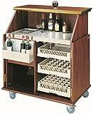 elegante Hausbar - Mobile Bar Theke Bartheke Holz Barschrank