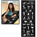New Back Black 28 Poses Yoga Mat