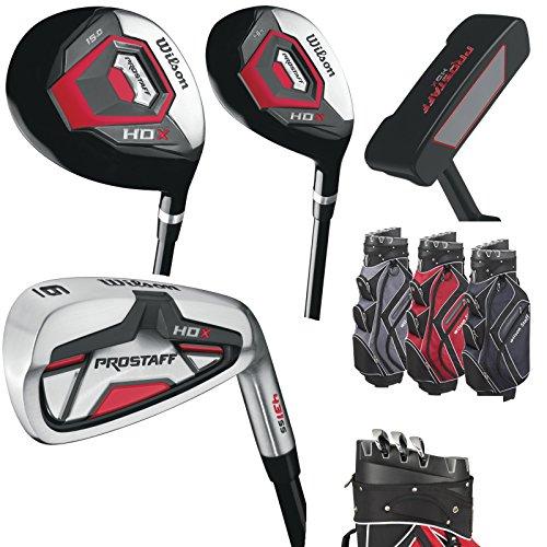 Wilson Hybride Prostaff HDX Golf Kit complet Fer de 5SW, bois, Putter Wilson Staff I de Lock Bag