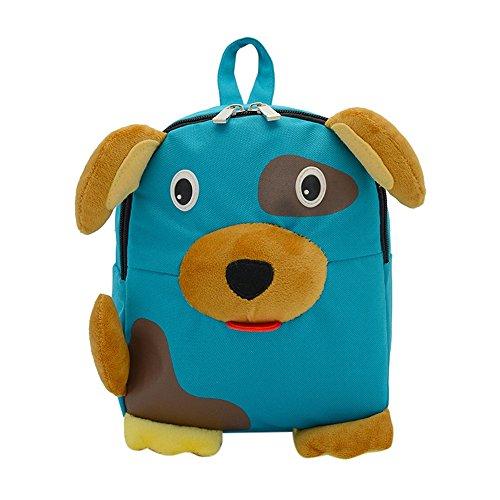 Imagen de  infantiles kukul  patrón de perro bebé bolsa para la escuela azul
