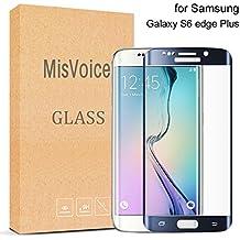 Galaxy S6 Edge Plus Protector de Pantalla,MisVoice 0.22MM Cristal Templado Protector 9H Dureza Shatterproof resistente a los arañazos Shock-resistant fácil instalación para Samsung Galaxy S6 Edge +(Azul)