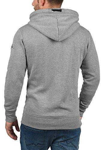 SOLID TripTapeHood Herren Kapuzen-Pullover Hoodie Sweatshirt mit Kapuze aus einer hochwertigen Baumwollmischung Grey Melange (8236)