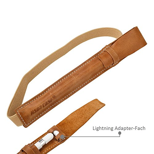Jisoncase Klasse Hülle Leder Halter mit Adapter Platz Braun für Apple Pencil JS-APL-02A20
