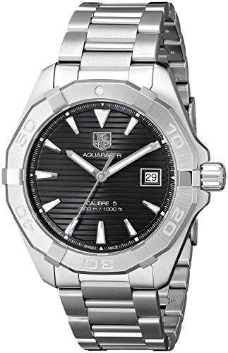 TAG Heuer Men's WAY2110.BA0910 300 Aquaracer Analog Display Swiss Automatic Silver Watch