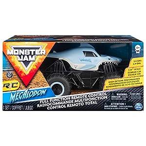 Monster Jam 1:24 RC - Megladon Monster Truck Motor eléctrico - Vehículos de Tierra por Radio Control (RC) (Monster Truck, Motor eléctrico, 1:24, Ready-To-Drive (RTD), Azul, De plástico)