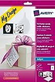 Avery Zweckform Grußkarten Leporello 8,5 x 8,5cm ; 10 St.(Karten + Kuverts)