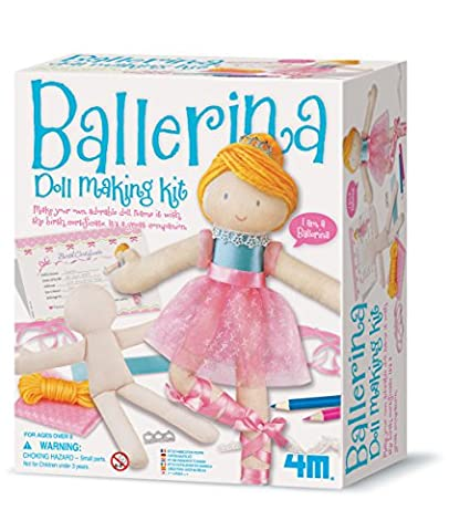Make Your Own - Doll Making Kit - Ballerina - Girls Girl Children Child Kids - Arts & Crafts Fashion Set - Number One Birthday Present Gift Fun Toys & Games Idea Age 8+