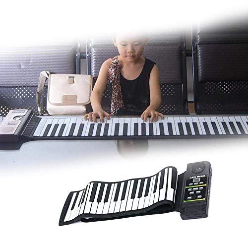 Ting-Times 88 Key Piano Keyboard, Portable Foldable Flexible Soft Electronic Digital Organ Piano Keyboard Flexible