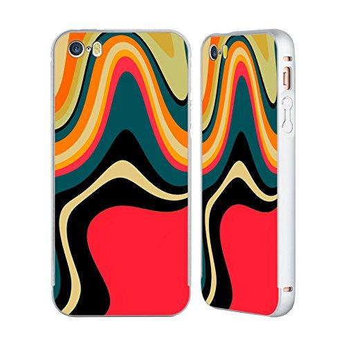 Ufficiale Shelly Bremmer Calmo Astratto E Vivido Argento Cover Contorno con Bumper in Alluminio per Apple iPhone 5 / 5s / SE Risolvere