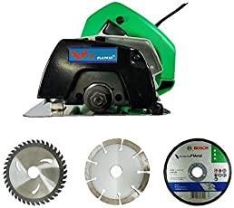 Inditrust 1050 W CM4 SA Cutting Machine with and 2 Marble and Bosch Metal Blades, 4-inch (IND189)
