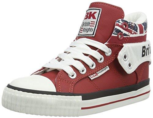 British KnightsROCO - Scarpe da Ginnastica Basse Unisex - Bambini , Rosso (Rot (Red/Union Jack 02)), 35