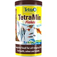 Tetra Tetramin Tropical Flakes, Complete Food for All Tropical Fish with Clean and Clear Water Formula, 200 g