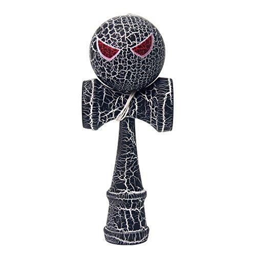 Preisvergleich Produktbild Wisamic Holz Kendama Geschicklichkeitsspiel japanische Fähigkeit Toy schwarz, Kinder Geschenk