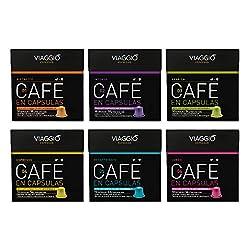 VIAGGIO ESPRESSO - 60 Kaffeekapseln kompatibel mit Nespresso - KLASSISCHE AUSWAHL