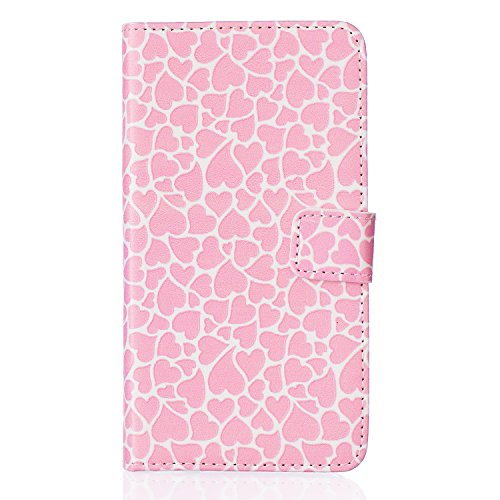 Meet de Live your heam pour Apple iPhone 6 / iphone 6S Case, Folio pour Apple iPhone 6 / iphone 6S PU Housse,Wallet / flip étui / Pouch / Case / Holster / Wallet / Case en cuir Wallet Style de couvert Rose