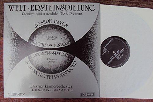Sinfonia Nr. 45 Abschieds Sinfonie und Sinfonia F dur Ankunfts Sinfonie. Unisono Kammerorchester, Hans Oskar Koch. Stereo