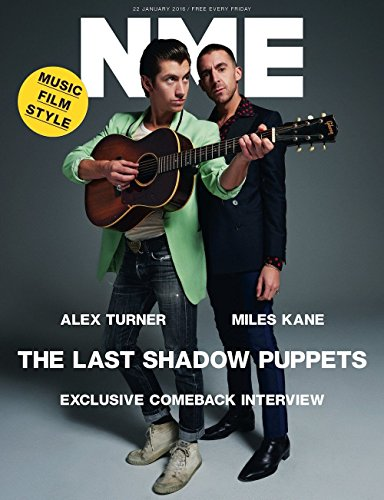 THE LAST SHADOW PUPPETS Photo Cover interview UK NME MAGAZINE JANUARY 2016 NEW