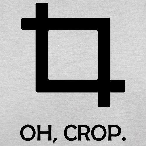 Oh, Crop - Herren T-Shirt - 13 Farben Hellgrau