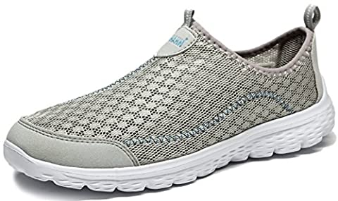 Anlarach Men's Breathable Mesh Slip On Loafers Summer Sport Running Shoes Walk Exercise Athletic Sneakers Size 10 UK