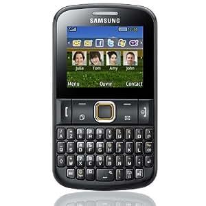 Samsung Chat E222 Téléphone portable GPRS Quadri-bande Mémoire interne 50 Mo Bluetooth Noir