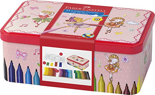 Faber-Castell 155534 - Filzstift Connector, Ballerinabox