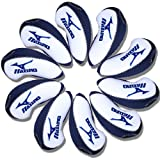 Mizuno Golf Iron head Covers 10pcs/set white & blue MT/Mz02