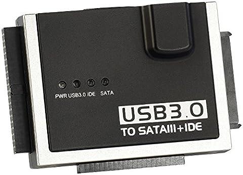 Xystec USB Festplattenadapter: Universal-Festplatten-Adapter IDE/SATA/SSD auf USB 3.0, inkl. Netzteil (Festplatten (Festplatte Netbook)