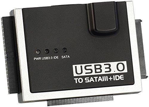 Xystec USB Festplattenadapter: Universal-Festplatten-Adapter IDE/SATA/SSD auf USB 3.0, inkl. Netzteil (Festplatten Dockingstations)